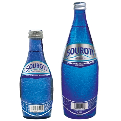 SOUROTI SPARKLING NATURAL MINERAL WATER, GREEK