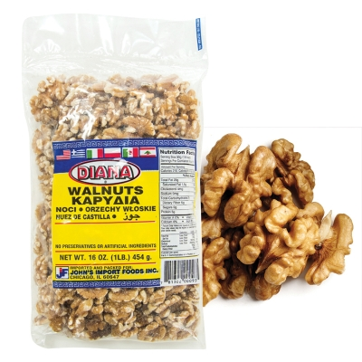 WALNUTS HALF LIGHT PIECES KERNELS