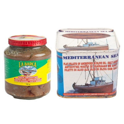 ANCHOVIES PASTE AND ANCHOVIES FILET IN OIL, GREEK