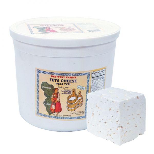 DOMESTIC FETA CHEESE COW'S MILK, IN BRINE