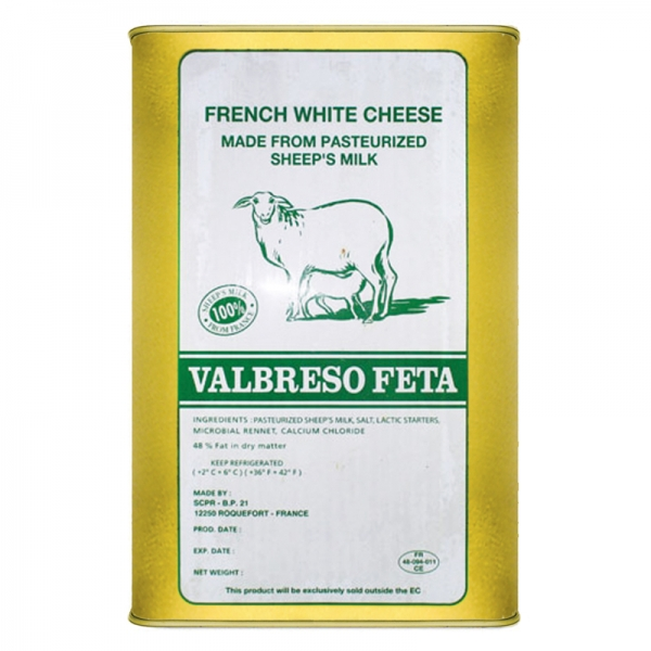 FRENCH FETA CHEESE, IN BRINE