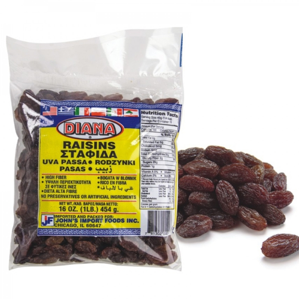 NATURAL SULTANAS RAISINS, GREEK
