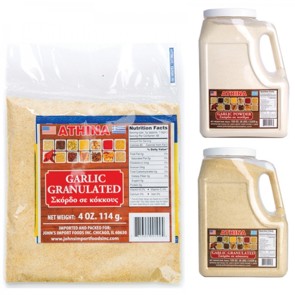GARLIC POWDER AND GRANULATED
